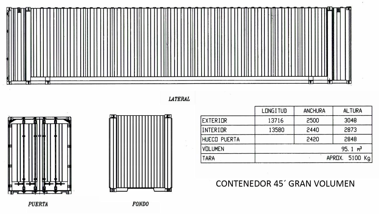 "Contenedor 45"" Gran Volumen"
